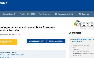 Project PERFECT is awarded as a Good Practice example for Erasmus+ projects!